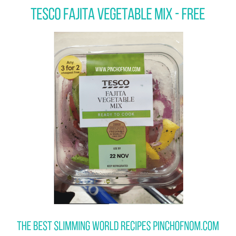 Tesco Fajita Vegetables - Pinch of Nom Slimming World Shopping Essentials