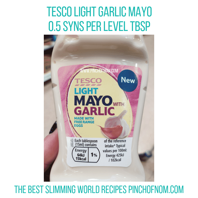 Tesco Light Mayo Garlic - Pinch of Nom Slimming World Shopping Essentials