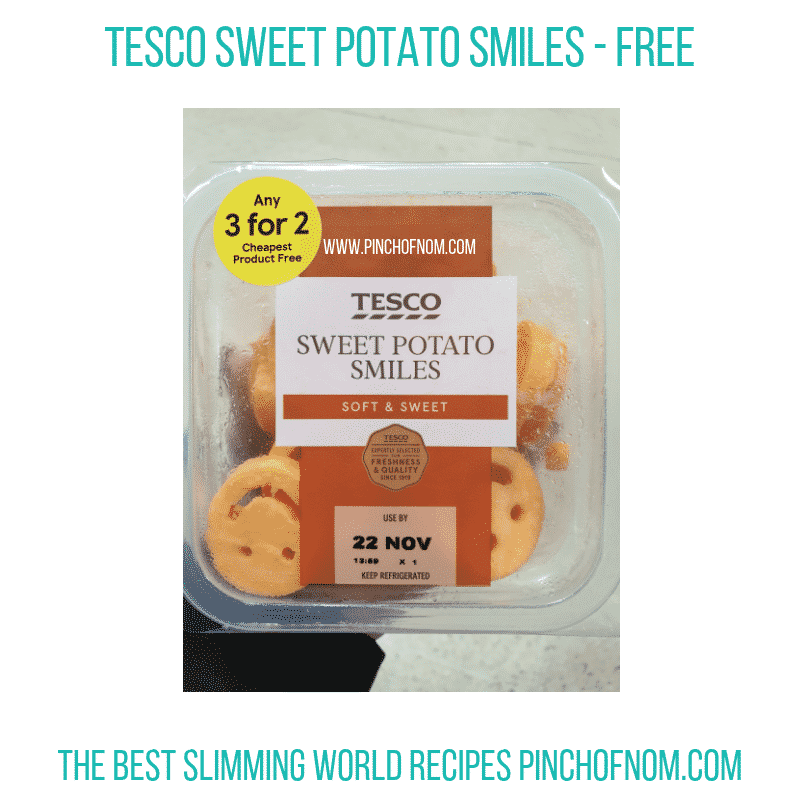 Tesco Sweet Potato Smiles - Pinch of Nom Slimming World Shopping Essentials