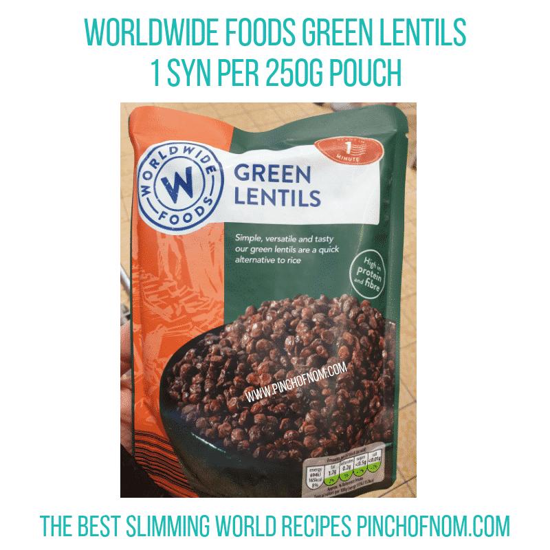 Worldwide Foods Green Lentils - Pinch of Nom Slimming World Shopping Essentials