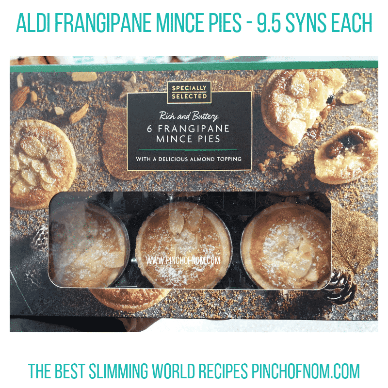 Aldi Frangipane Mince Pies - Pinch of Nom Slimming World Shopping Essentials