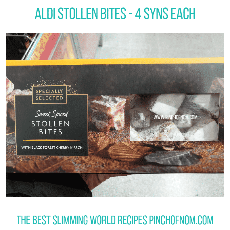 Aldi Stollen Bites - Pinch of Nom Slimming World Shopping Essentials