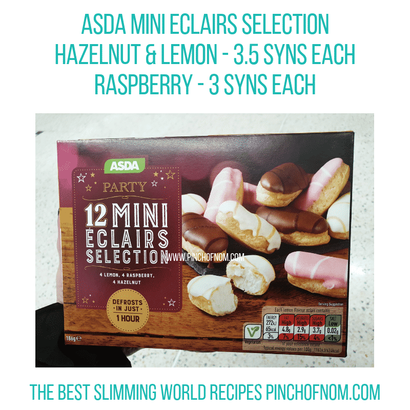 Asda Mini Eclairs - Pinch of Nom Slimming World Shopping Essentials