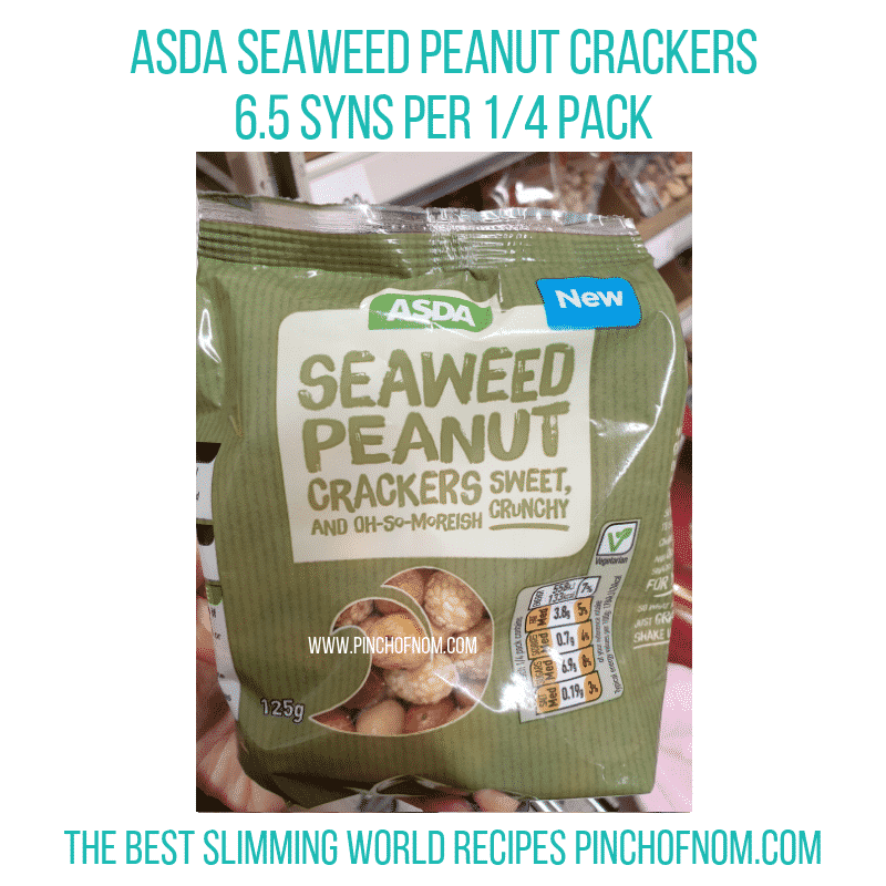 Asda Seaweed Peanut Crackers - Pinch of Nom Slimming World Shopping Essentials