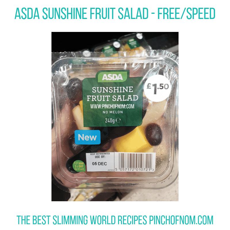 Asda Sunshine Fruit Salad - Pinch of Nom Slimming World Shopping Essentials