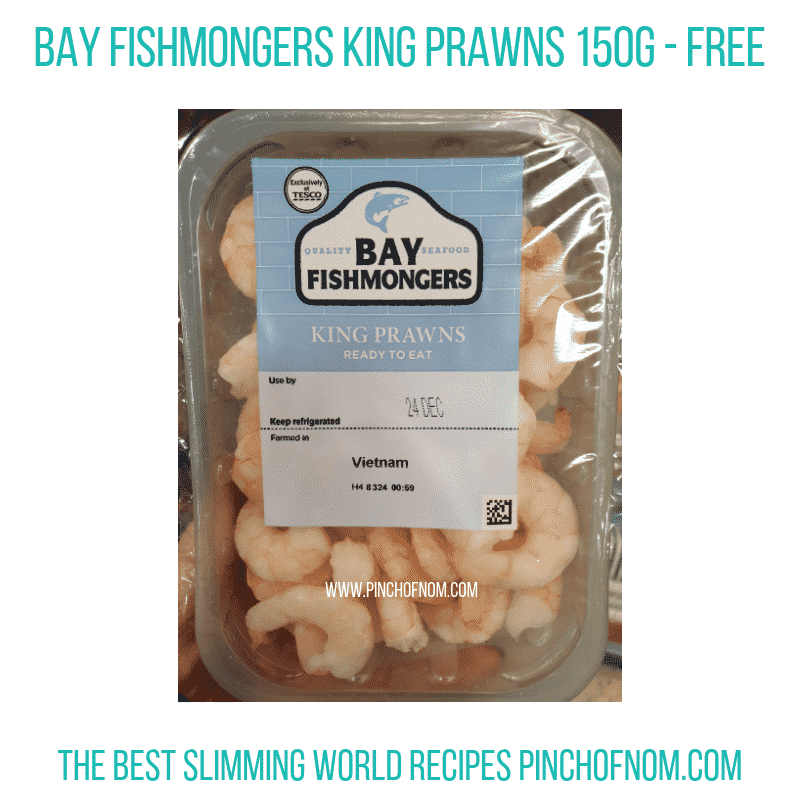 Bay Fishmongers King Prawns - Pinch of Nom Slimming World Shopping Essentials