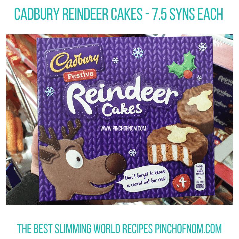 Cadbury Reindeer Cakes - Pinch of Nom Slimming World Shopping Essentials
