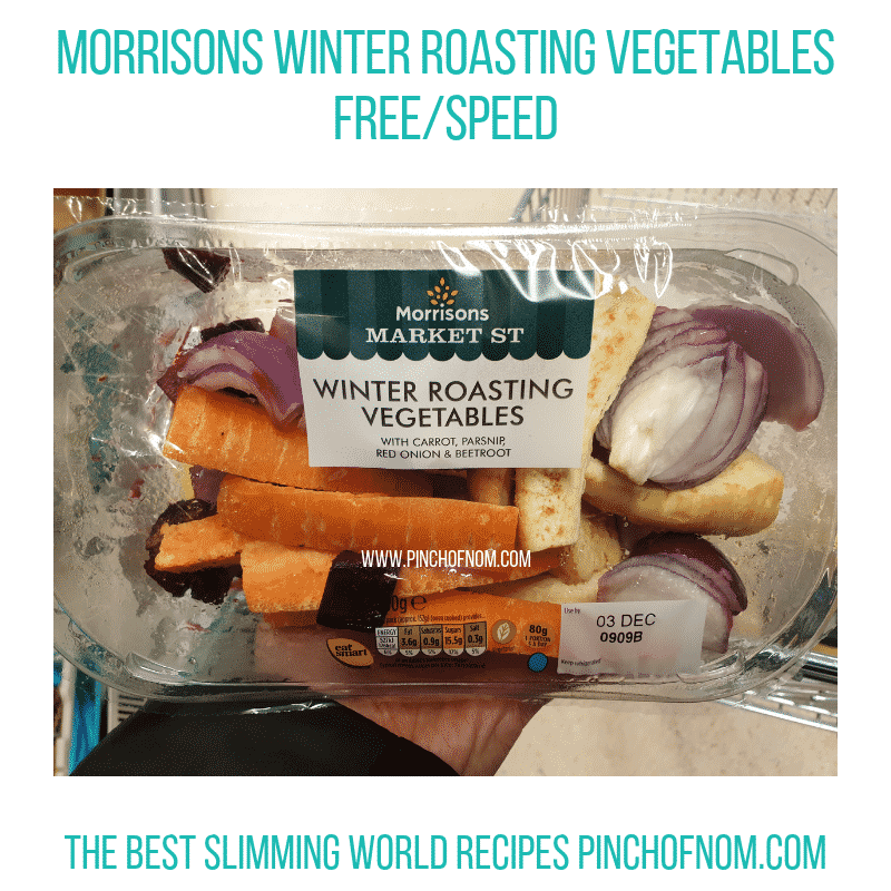 Morrisons Winter Roasting Veg - Pinch of Nom Slimming World Shopping Essentials