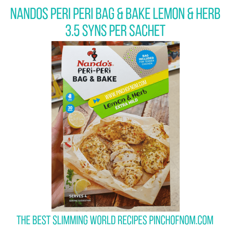 Nandos Peri Peri Lemon Herb - Pinch of Nom Slimming World Shopping Essentials