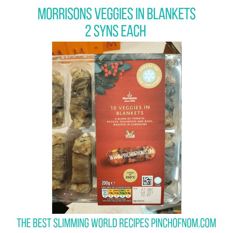 Veggies in Blankets - Pinch of Nom Slimming World Shopping Essentials