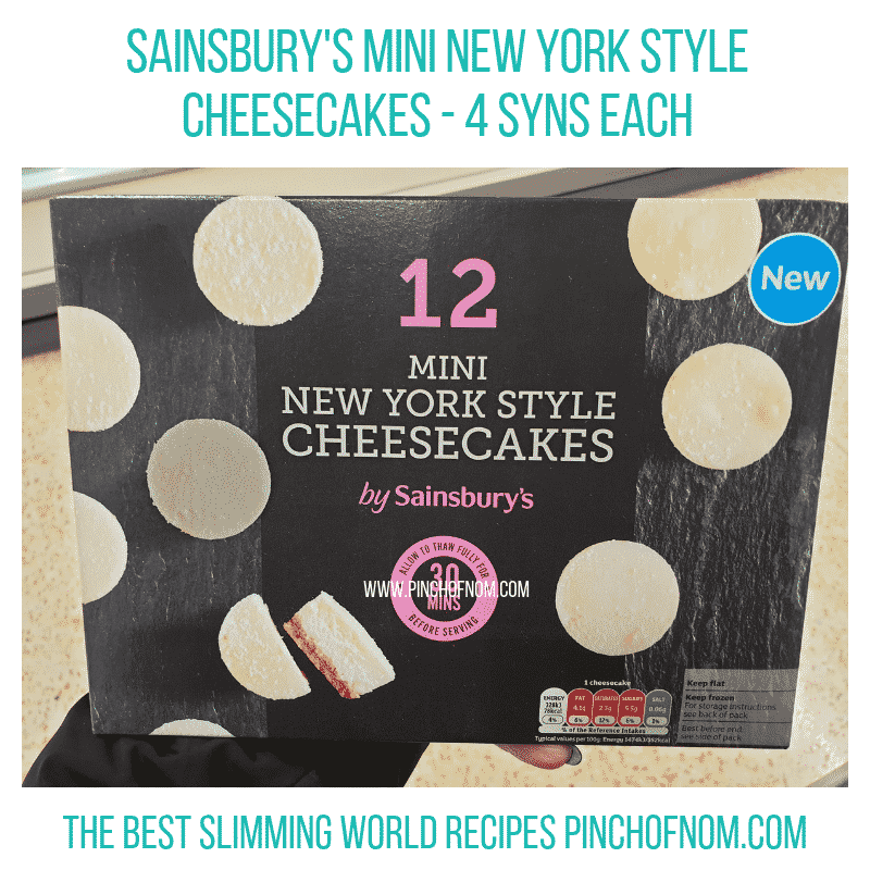 Sainsbury Cheesecakes - Pinch of Nom Slimming World Shopping Essentials