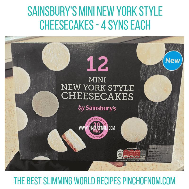 Sainsbury Cheesecakes - Pinch of Nom Slimming World Shopping Essentials