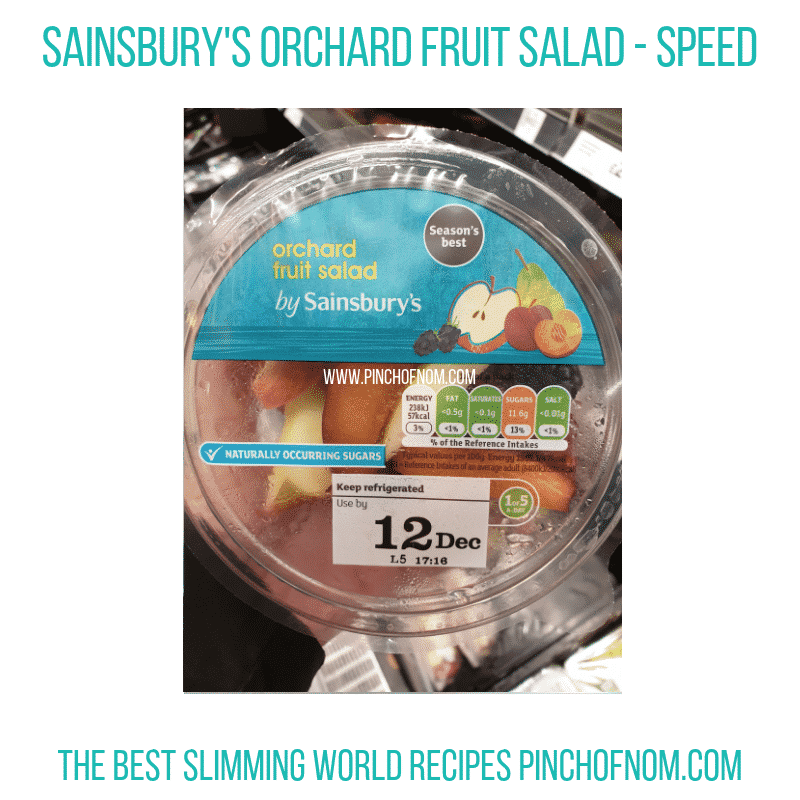 Sainsbury Orchard fruit Salad - Pinch of Nom Slimming World Shopping Essentials