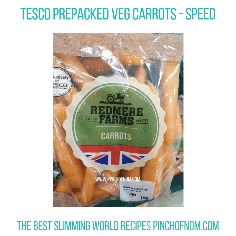 Tesco Redmere Farms Carrots - Pinch of Nom Slimming World Shopping Essentials