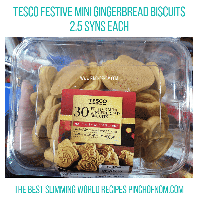 Tesco Festive Gingerbread - Pinch of Nom Slimming World Shopping Essentials