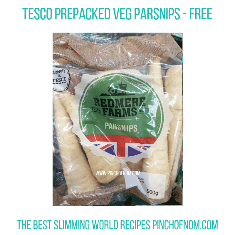 Tesco Redmere Farms Parsnips - Pinch of Nom Slimming World Shopping Essentials