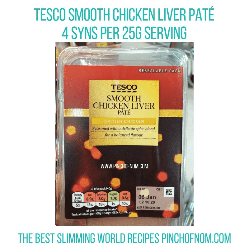 Tesco Pate - Pinch of Nom Slimming World Shopping Essentials