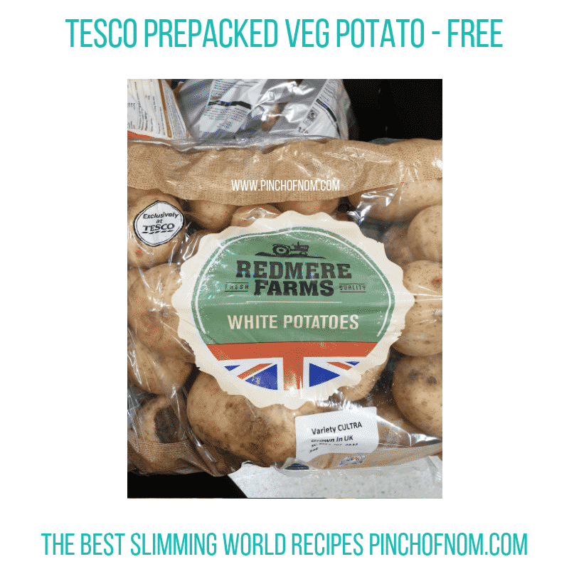 Tesco Redmere Farms white potatoes - Pinch of Nom Slimming World Shopping Essentials