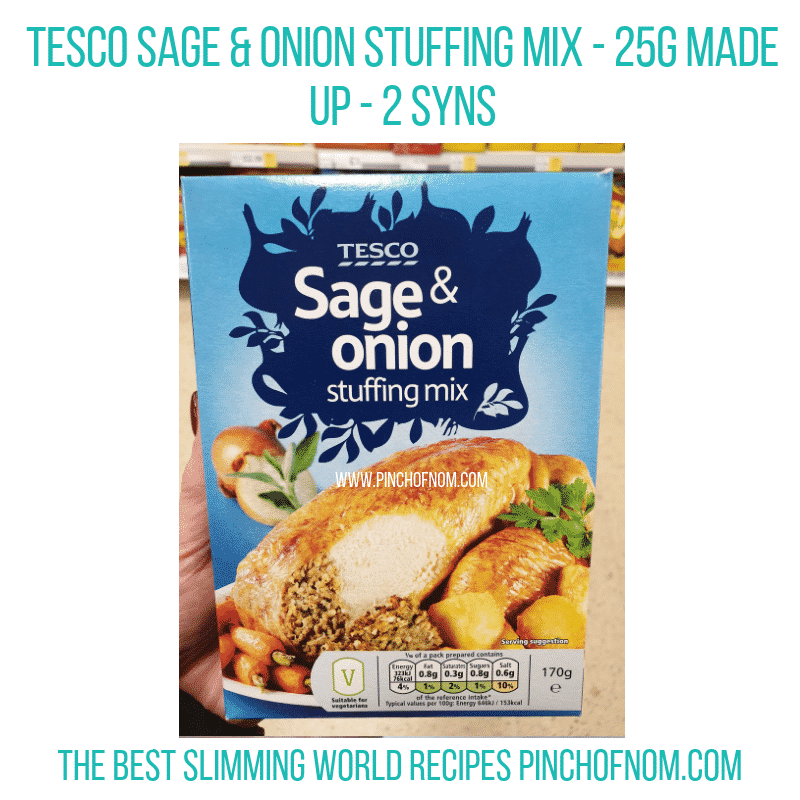 Tesco Sage & Onion - Pinch of Nom Slimming World Shopping Essentials