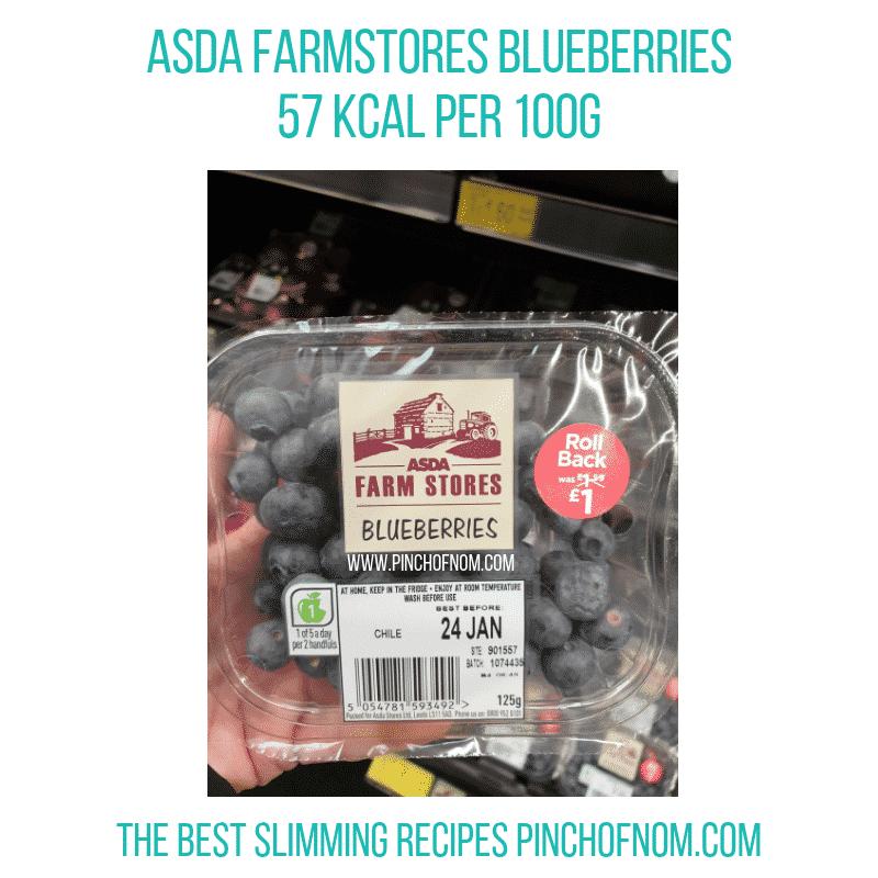 Asda blueberries - Pinch of Nom Slimming World Shopping Essentials