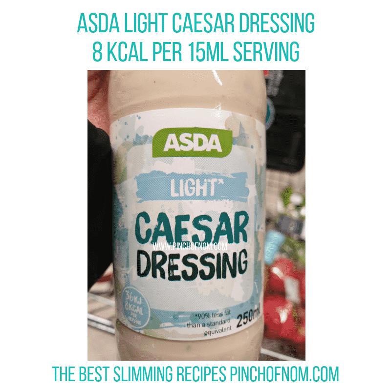 Asda Light Caesar dressing - Pinch of Nom Slimming World Shopping Essentials