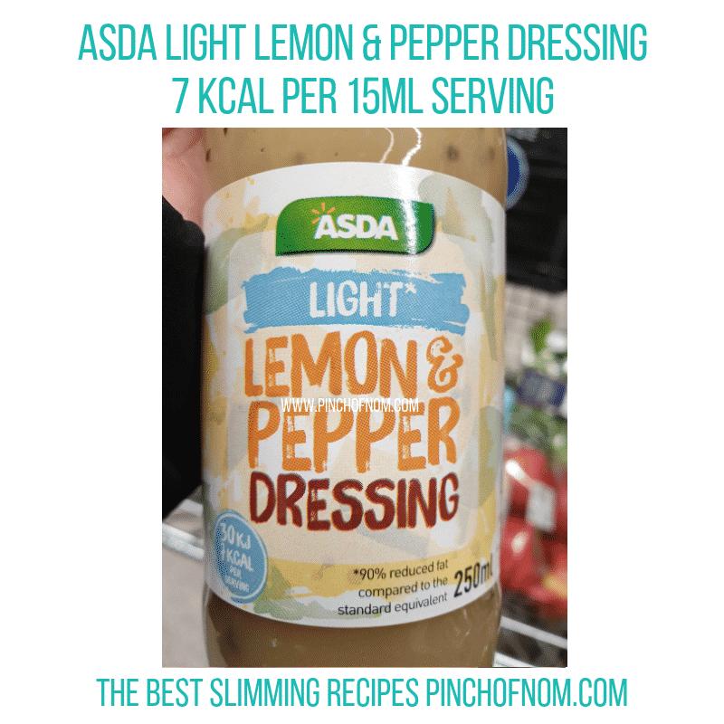 Asda Lemon & Pepper Light dressing - Pinch of Nom Slimming World Shopping Essentials