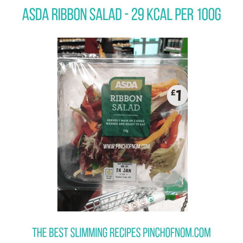 Asda Ribbon Salad - Pinch of Nom Slimming World Shopping Essentials