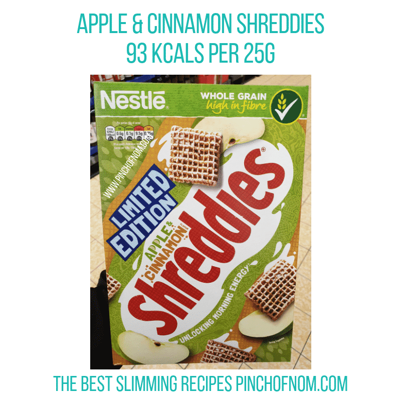 Apple Cinnamon Shreddies - Pinch of Nom Slimming World Shopping Essentials