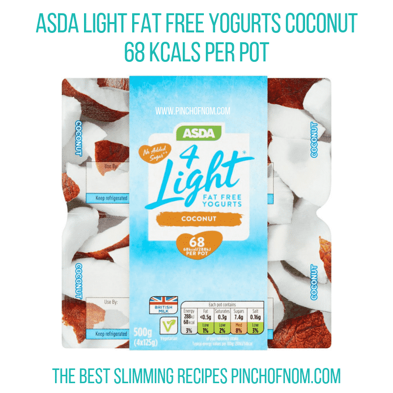 Asda Light Coconut - Pinch of Nom Slimming World Shopping Essentials