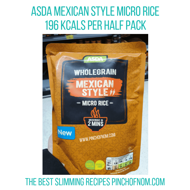Asda Mexican Style Rice - Pinch of Nom Slimming World Shopping Essentials