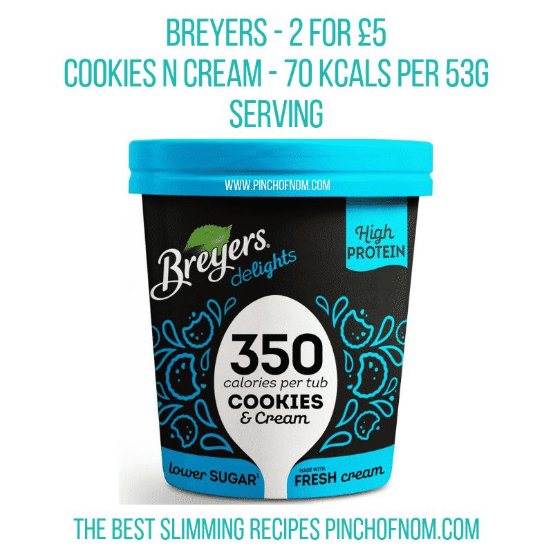 Breyers Cookies n Cream - Pinch of Nom Slimming World Shopping Essentials