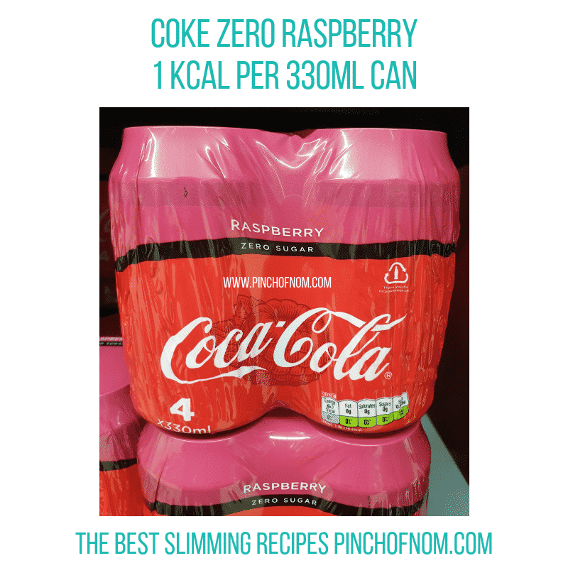 Coke Zero Raspberry - Pinch of Nom Slimming World Shopping Essentials