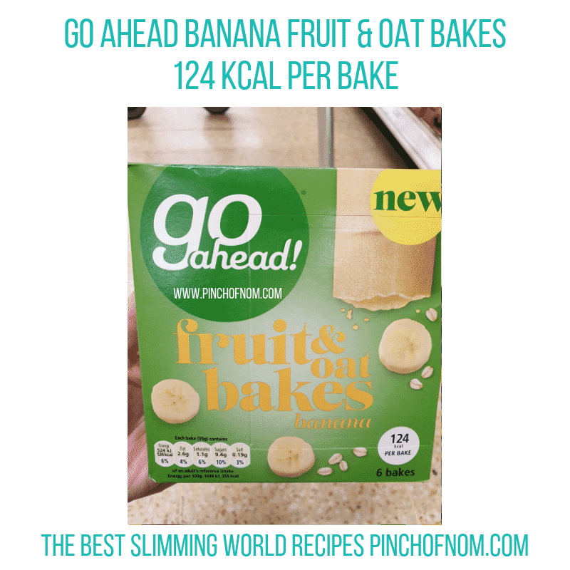 Go Ahead Oat Bakes Banana - Pinch of Nom Slimming World Shopping Essentials
