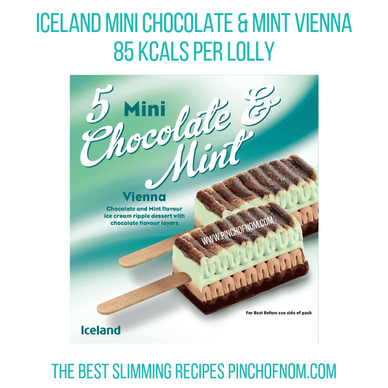 Iceland Mini Choc Mint - Pinch of Nom Slimming World Shopping Essentials
