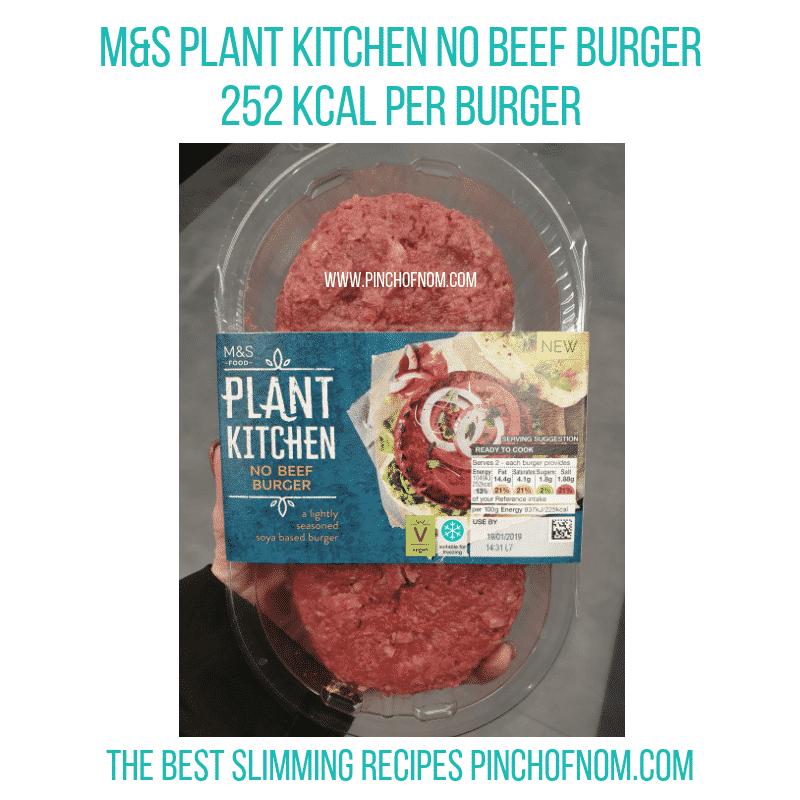 M&S Plant Kitchen Burger - Pinch of Nom Slimming World Shopping Essentials