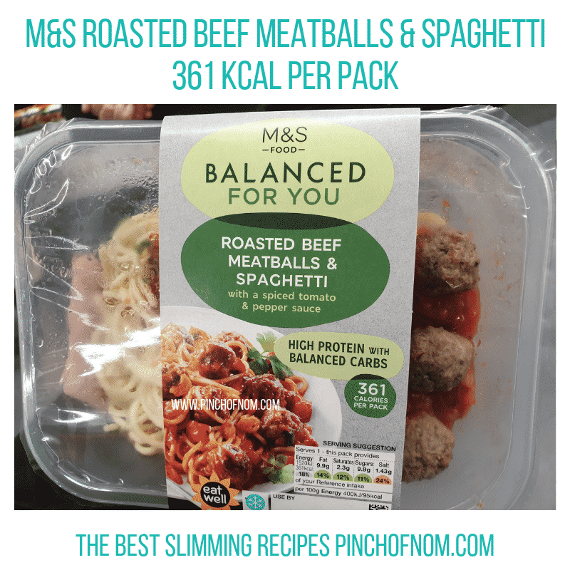 M&S Roasted Beef Meatballs - Pinch of Nom Slimming World Shopping Essentials