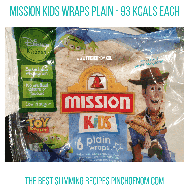 Mission Kids wraps - Pinch of Nom Slimming World Shopping Essentials