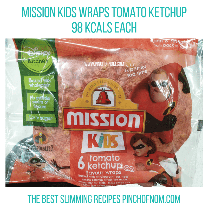 Mission Kids Tomato Ketchup Wraps Pinch of Nom Slimming World Shopping Essentials