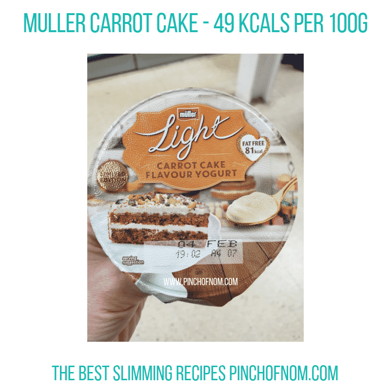 Muller Carrot Cake - Pinch of Nom Slimming World Shopping Essentials