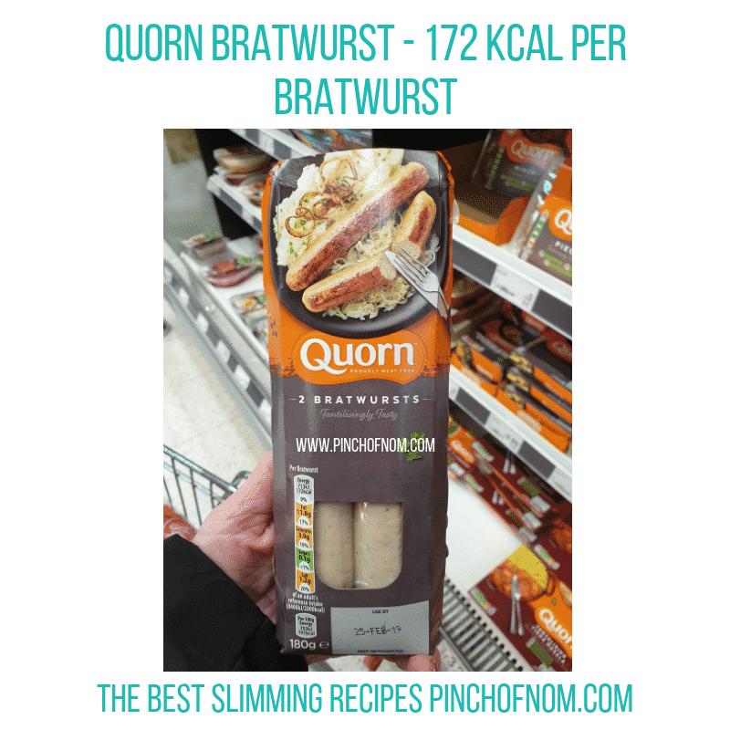 Quorn Bratwurst - Pinch of Nom Slimming World Shopping Essentials