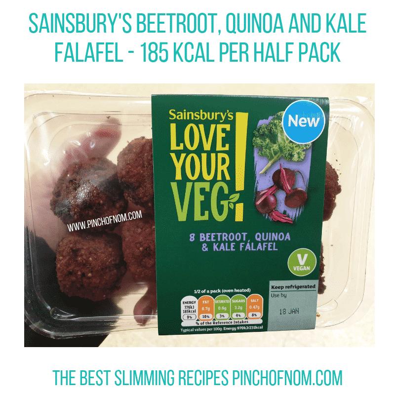 Sainsbury Kale Falafel - Pinch of Nom Slimming World Shopping Essentials