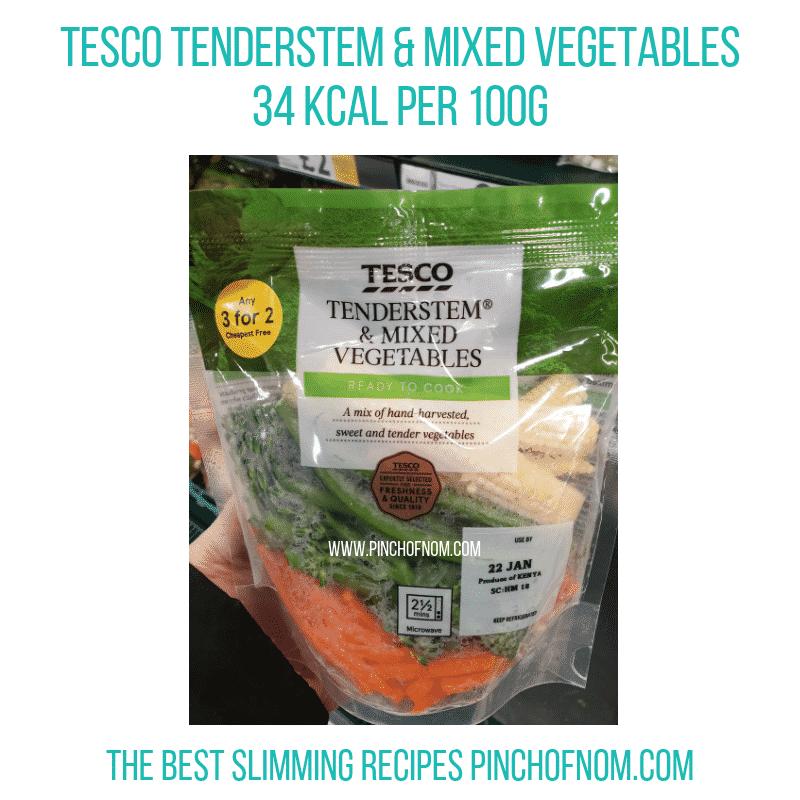 Tesco Tenderstem mixed veg - Pinch of Nom Slimming World Shopping Essentials