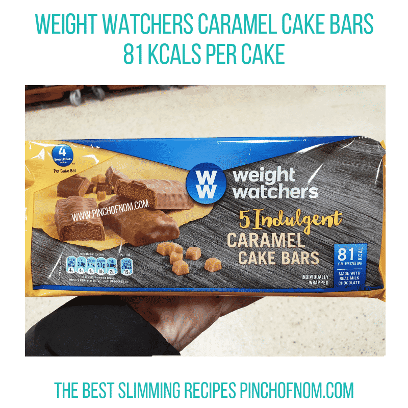 Weight Watchers Caramel Cake Bars
