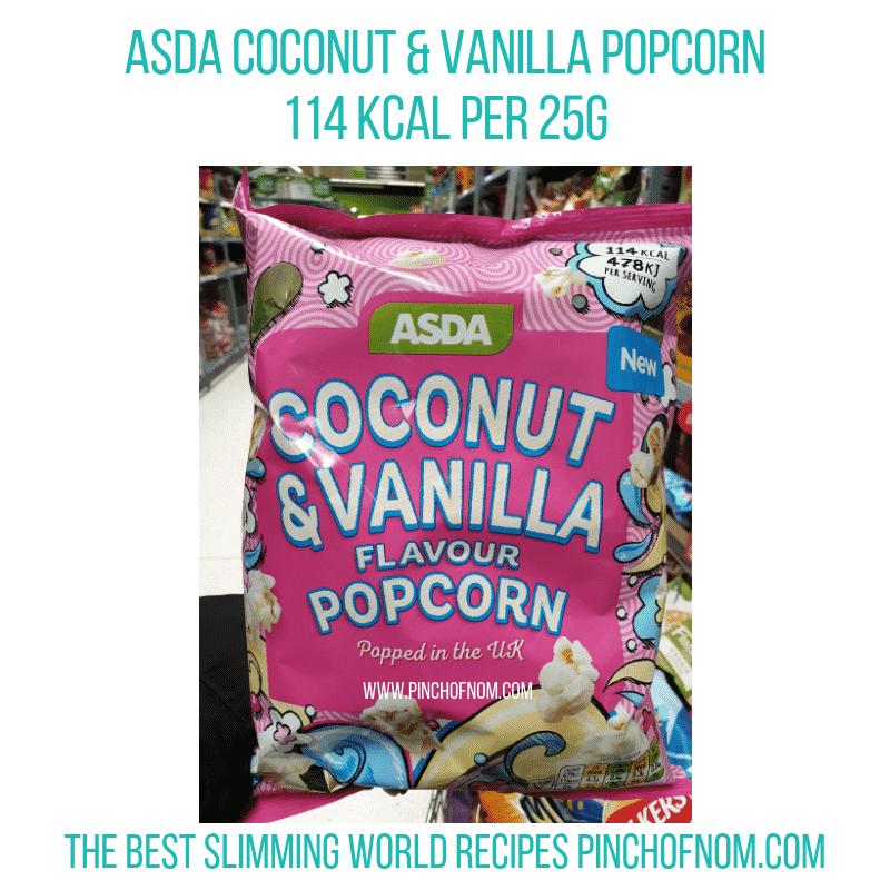 asdacocovanilapopcorn - Pinch of Nom Slimming World Shopping Essentials