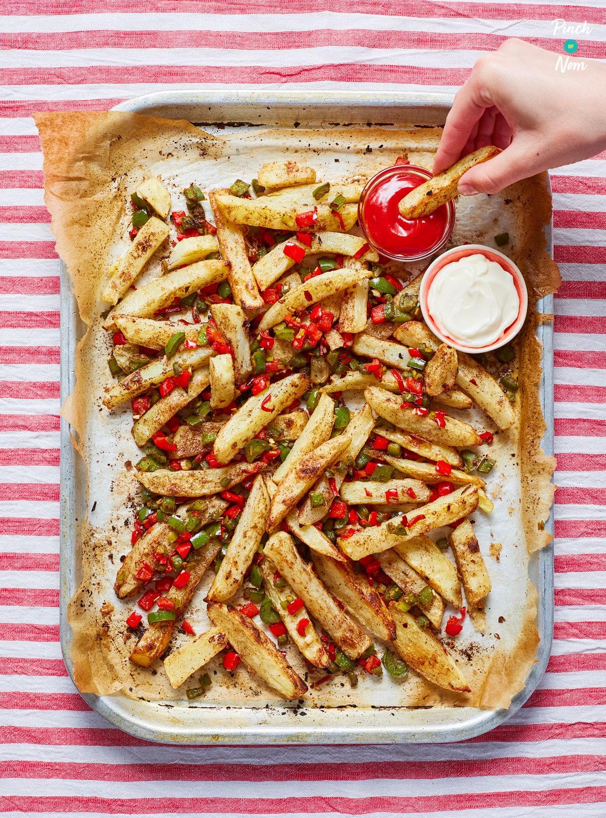 Salt and Pepper Chips pinchofnom.com