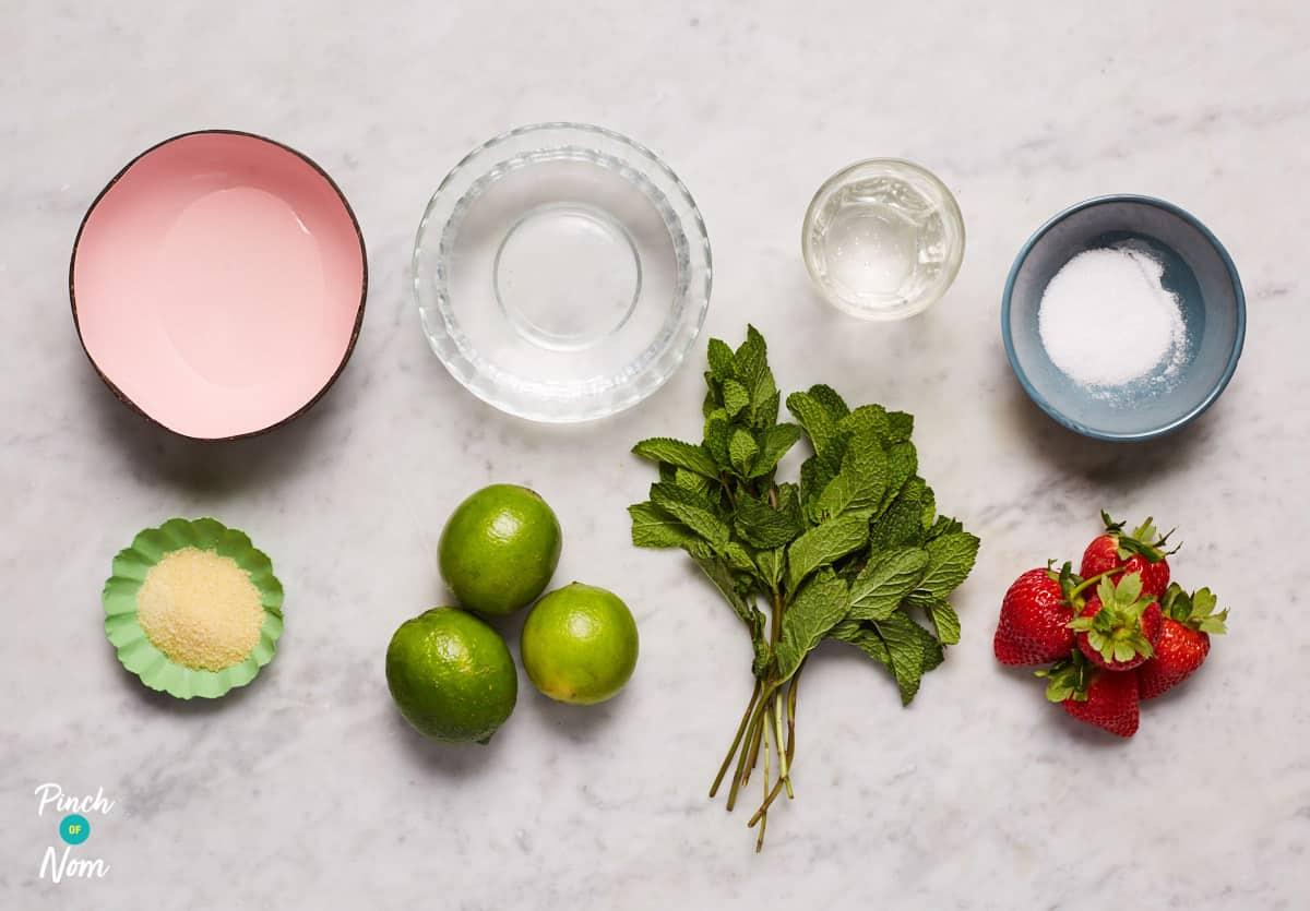 Strawberry Mojito Jellies - Pinch of Nom Slimming Recipes