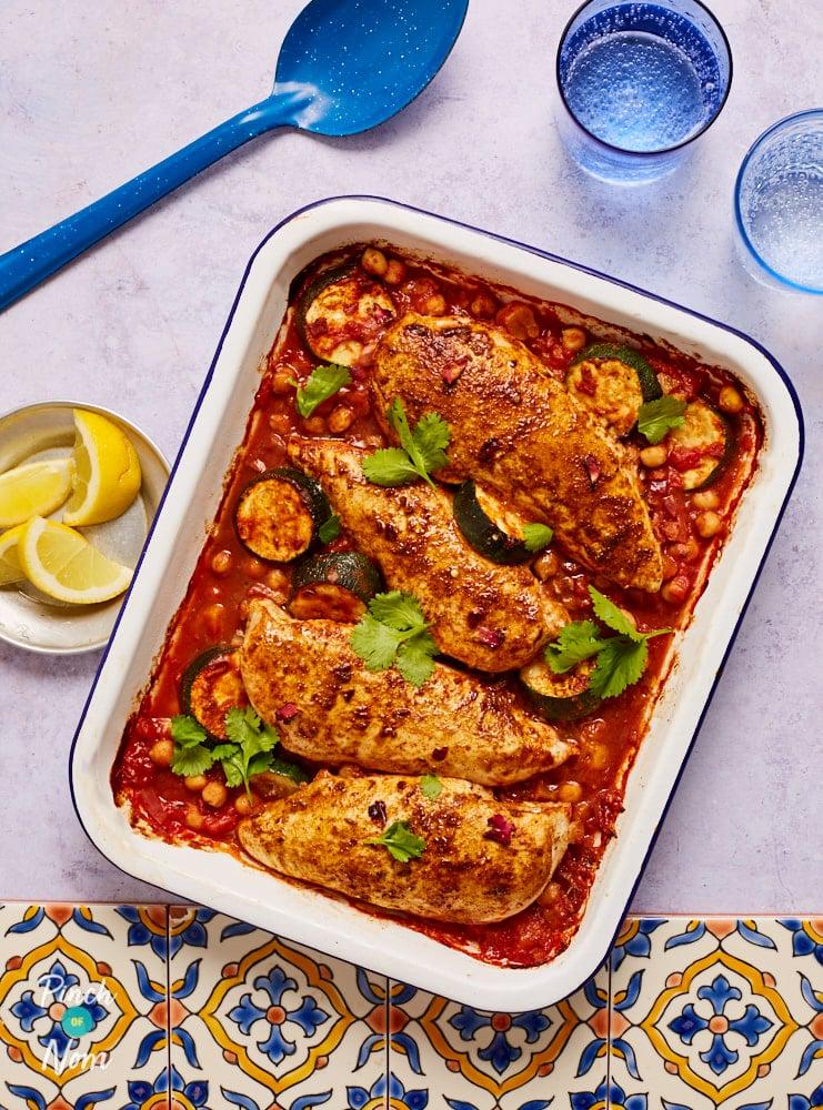 Ras el Hanout Chicken Tray Bake pinchofnom.com
