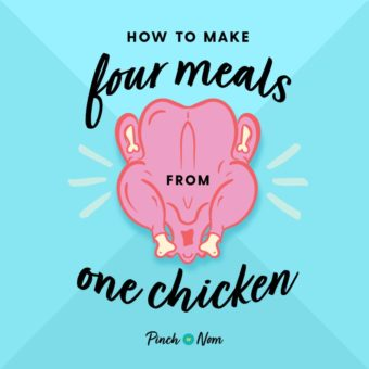 How To Make Four Meals From One Chicken pinchofnom.com